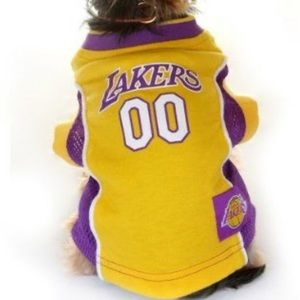 LA Lakers dog jersey perfect for Halloween